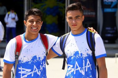 Isaac Núñez junto a su compañero Jorge Pérez